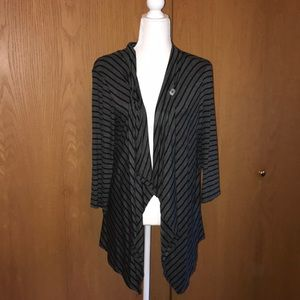 Women's XL Maurices Charcoal Gray/Black Cardigan